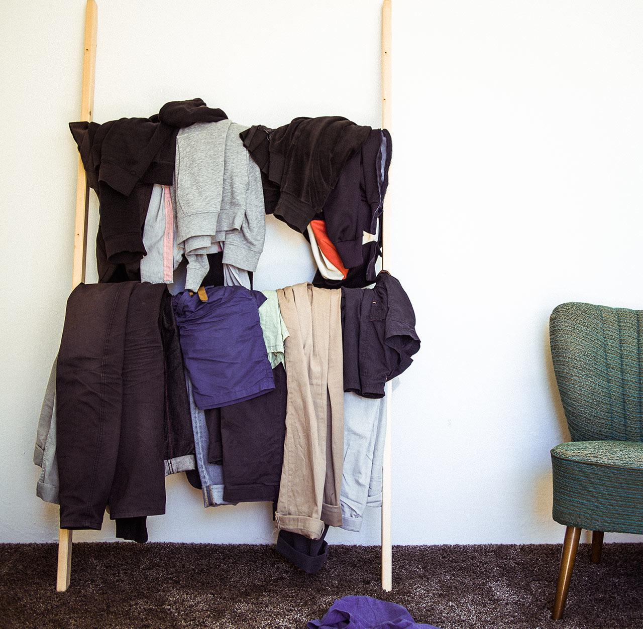 Einfacher Kleiderordner ohne schwedische Montagewehen, Anwendungsbeispiel