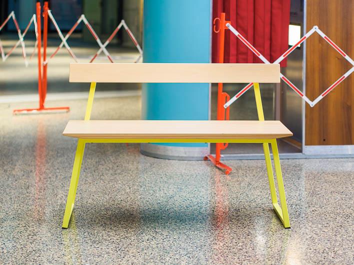 Sitzbank Design aus Buche, Massivholz, gefertigt in Deutschland