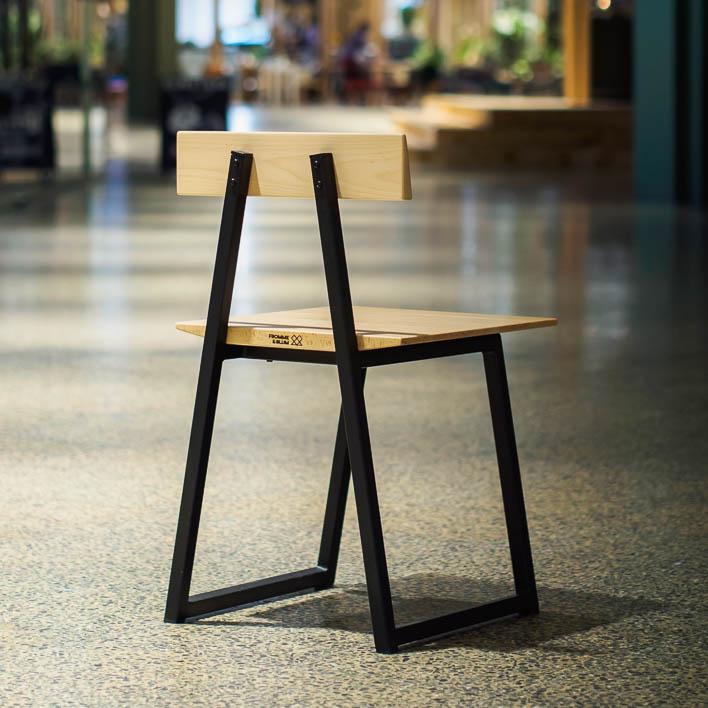 Stuhl Design aus Buche, Massivholz, gefertigt in Deutschland
