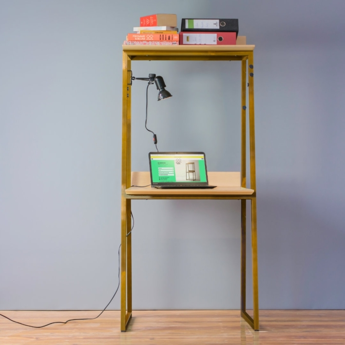 Schreibtisch Sekretär in Buche und Waldhonig